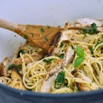 Lemon Garlic Chicken & Herbed Pasta Recipe