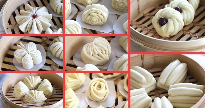 how to shape steamed bun(8ways)
