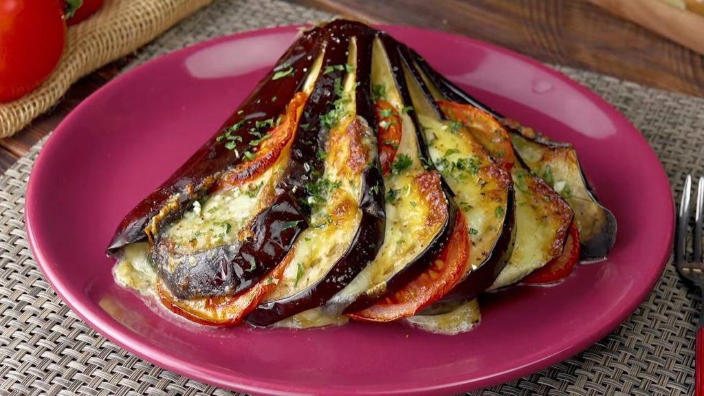 Caprese Stuffed Eggplant
