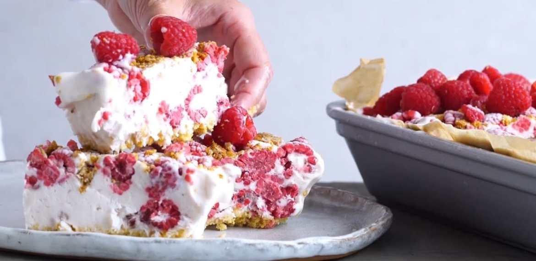Easy raspberry ice cream tart