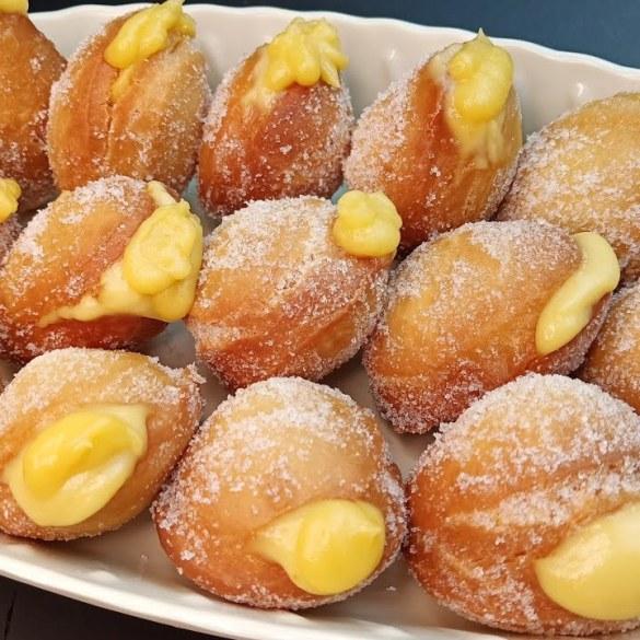 Custard cream donut without yeast