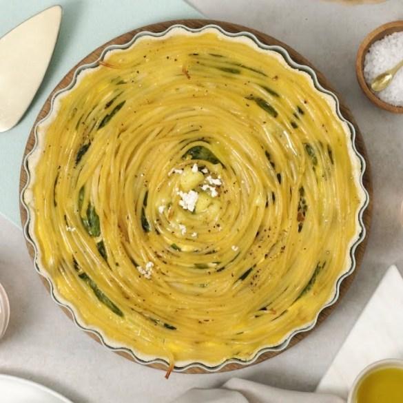 Spinach & Feta Pasta Quiche
