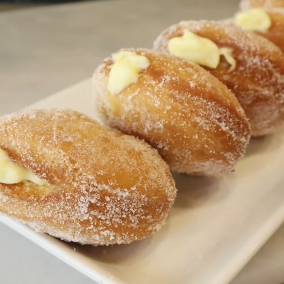 How to make Vanilla Custard filled Doughnuts