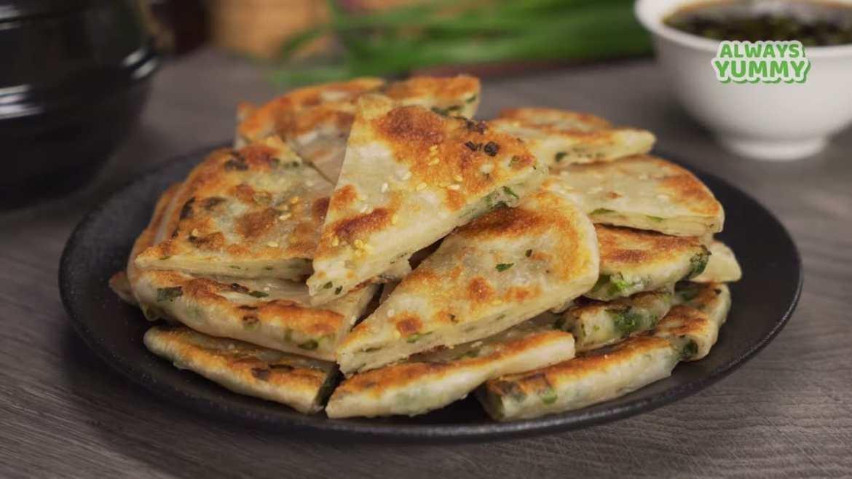 Chinese Green Onion Pancakes. Street Food | Cong You Bing