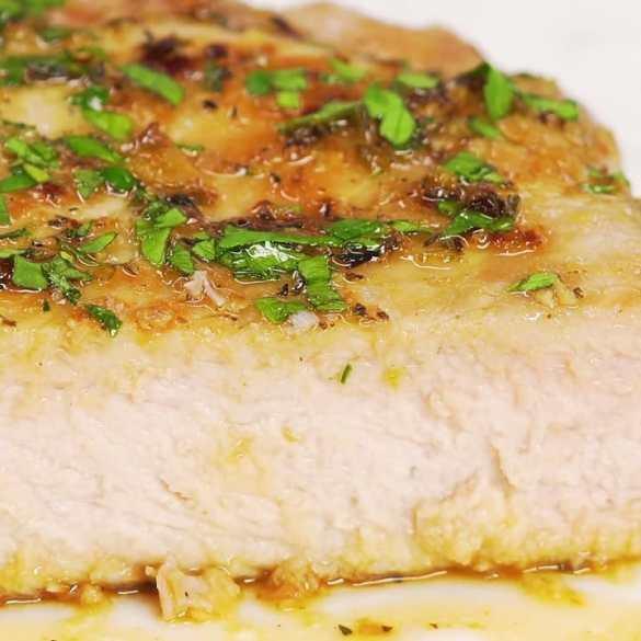 Glazed Pork Chops In Caramel Sauce