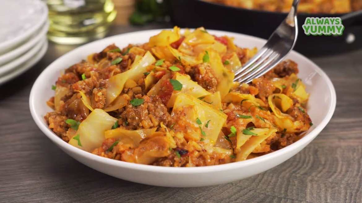Minced Beef & Cabbage Stew