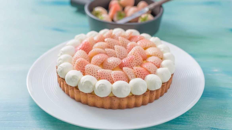 White Strawberry Tart Recipe
