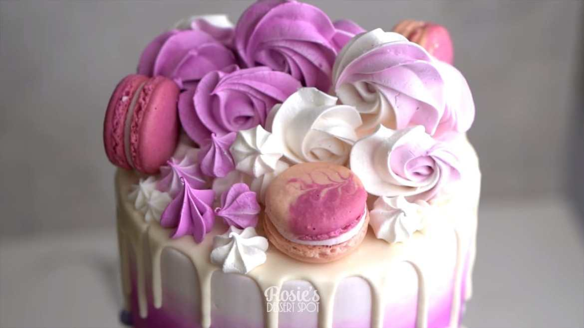 Easy and Vibrant Purple Ombre Cake Tutorial