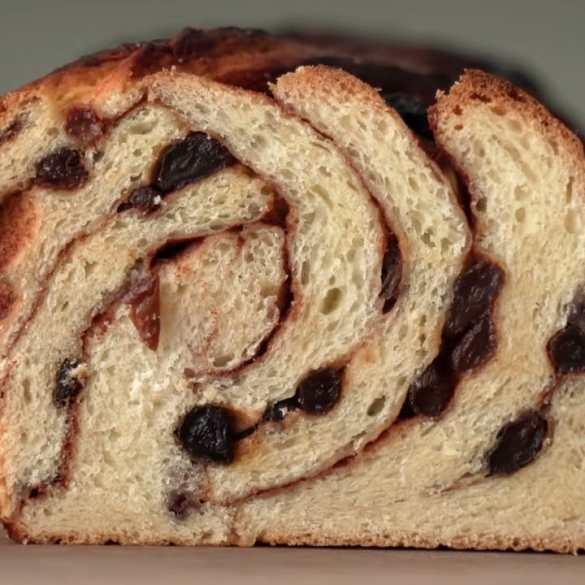 THE BEST CINNAMON RAISIN BREAD with a Twist (literally)