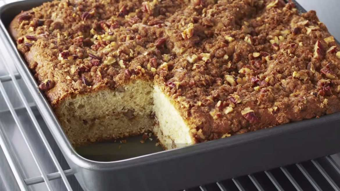 Professional Baker Teaches You How To Make COFFEE CAKE