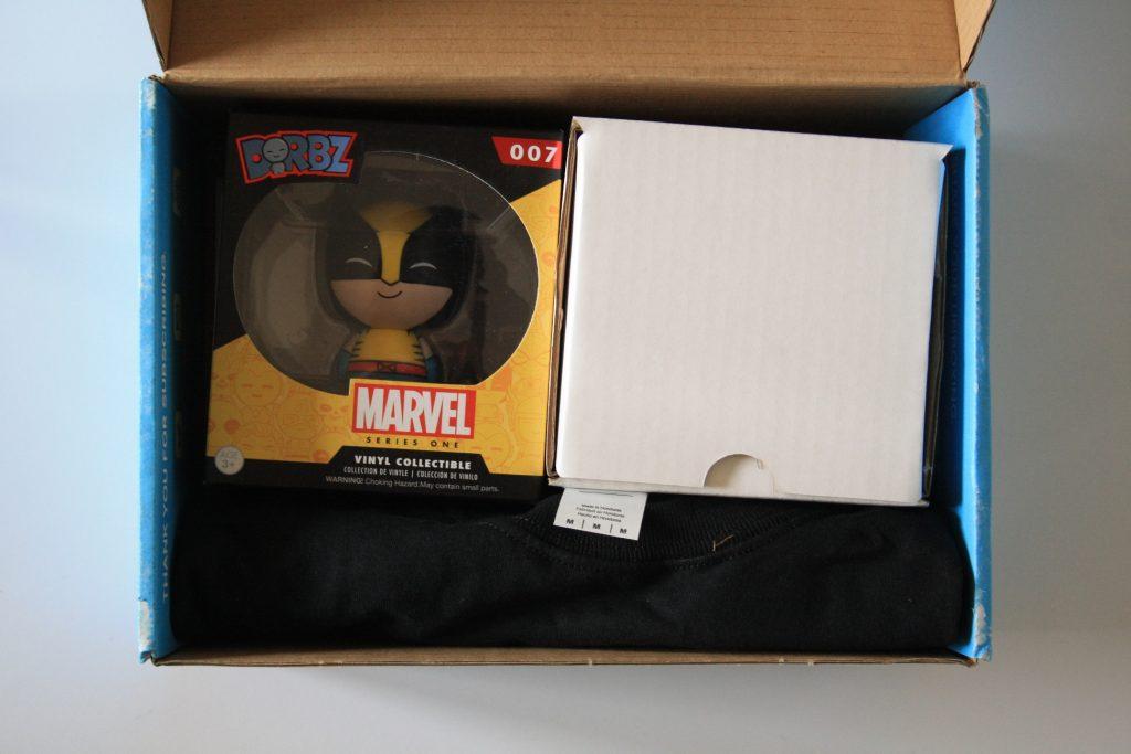 Alle Inhalte der MyGeekBox ordentlich verpackt
