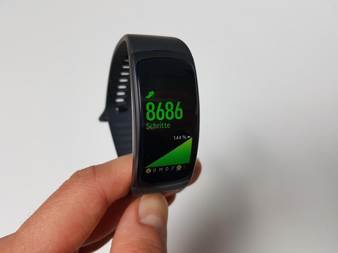 Samsung GearFit2 - Schrittzähler