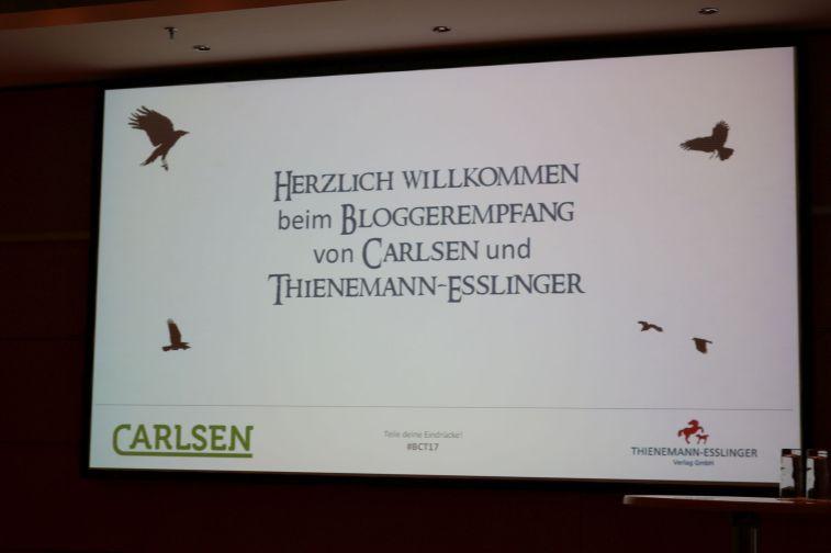 Bloggerempfang der Verlage Carlsen und Thienemann-Esslinger