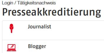 Presseakkreditierung - Journalist oder Blogger?
