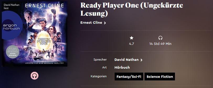 Ready Player One von Ernest Cline