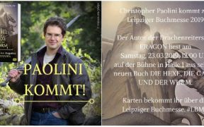 Christopher Paolini in Leipzig. (c) cbj Verlag