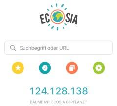 Ecosia - DIe Suchmaschine, die Bäume pflanzt