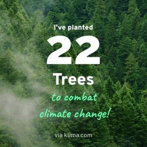 Klima App - CO2 Kompensation durch Baumpflanzungen