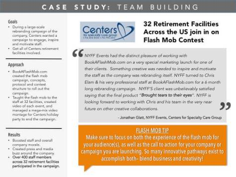 Centers Case Study With BookAFlashMob.com