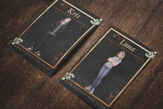 mockup-of-two-horizontal-postcards-on-a-wooden-surface-2135-el-1