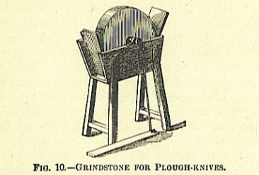 grinding stone for plough knives