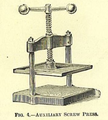 small bench iron book press