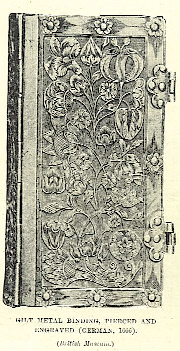 gilt metal pierced and engraved