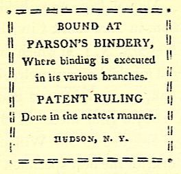 BOUND AT PARSON'S BINDERY