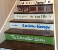Christmas Gift Alert: Book Title Decals for Stairs