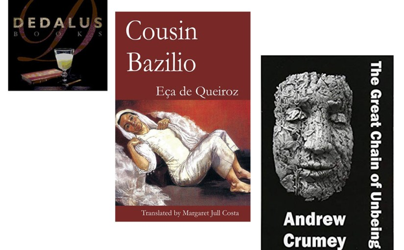 BookBlast® 10×10 Tour | Tues 11 Sept., Waterstones, Gower Street, W1 | Andrew Crumey, Margaret Jull Costa @dedalusbooks
