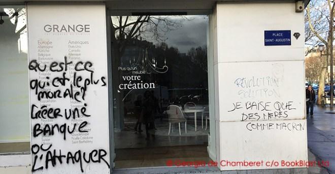 paris riots graffittie grange pl st augustin 9_12_18