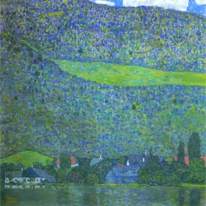 Unterach at the Attersee by Gustav Klimt