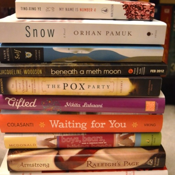 Books for trade or giveaway at the Ontario Book Bloggers Meet-Up!