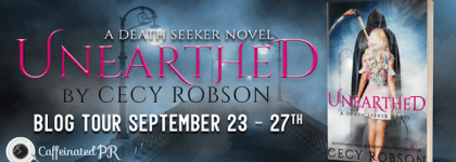 BOOK REVIEW TOUR: UNEARTHED by CECY ROBSON @cecyrobson  @CaffeinatedPR #UrbanFantasy