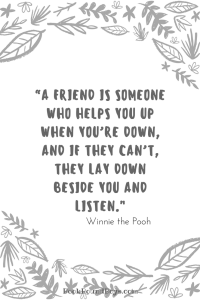Winnie the Pooh bookmark with quote.