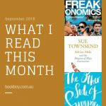 What I read this month (September 2018)