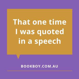 Quoted in the Colin Simpson Memorial Lecture | bookboy.com.au