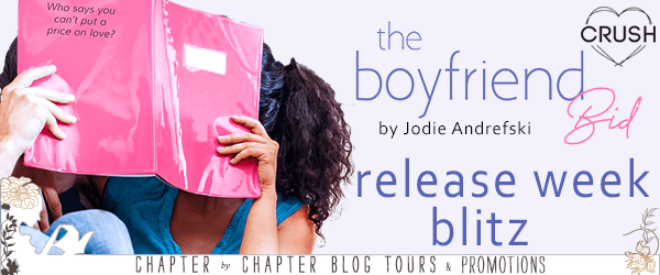 {Release Day Review+Giveaway} The Boyfriend Bid by @JodieAndrefski @EntangledTeen