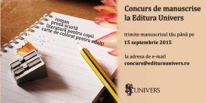 Concurs de manuscrise la Editura Univers