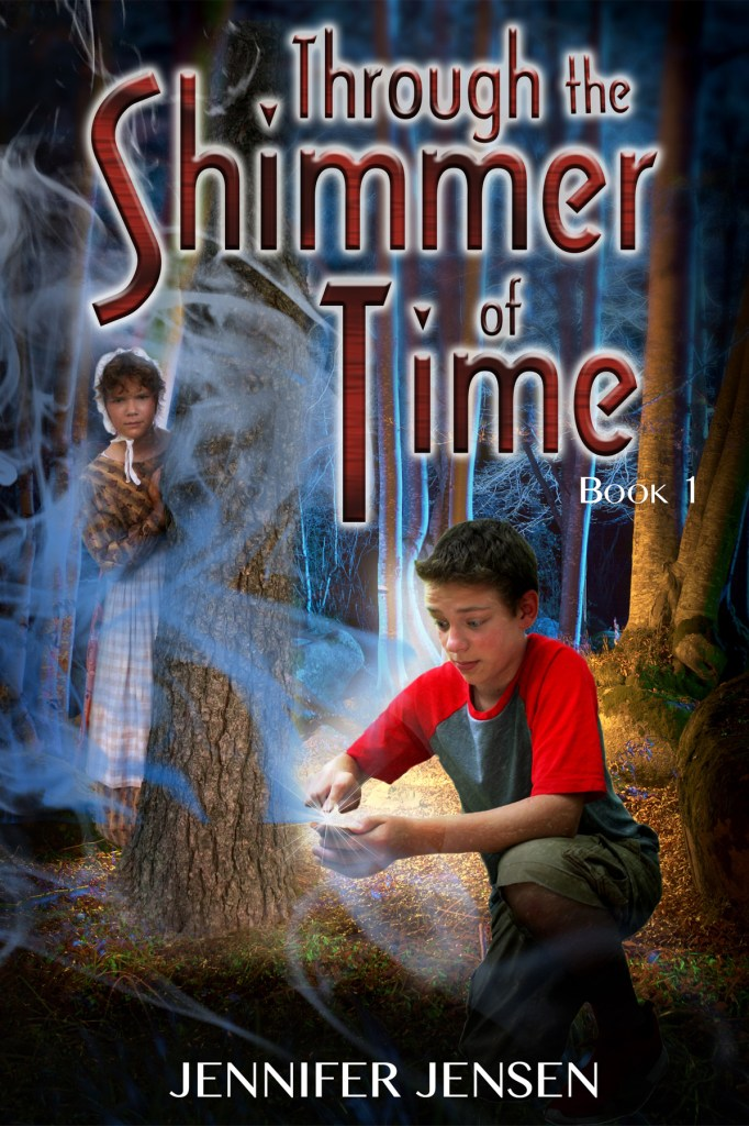 Through the Shimmer of Time by Jennifer Jensen, cover by Book Cover Corner