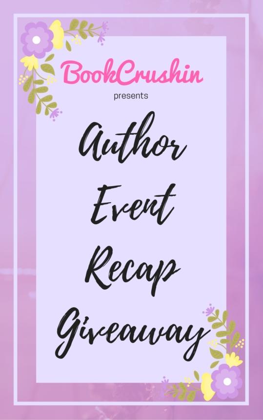 Feature: 3 Weeks, 5 Author Events – Recap & Giveaway