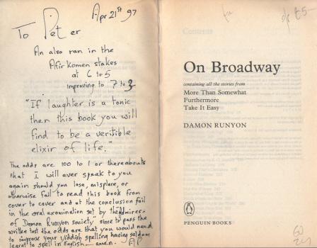 On Broadway by Damon Runyon