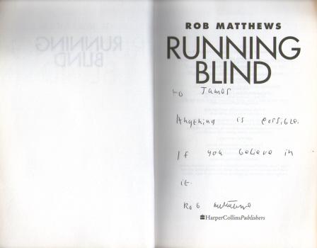 Running Blind by Rob Matthews