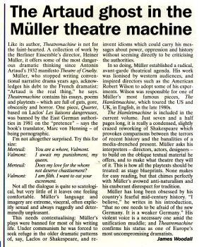 Theatremachine by Heiner Müller - translated & edited by Marc von Henning 1