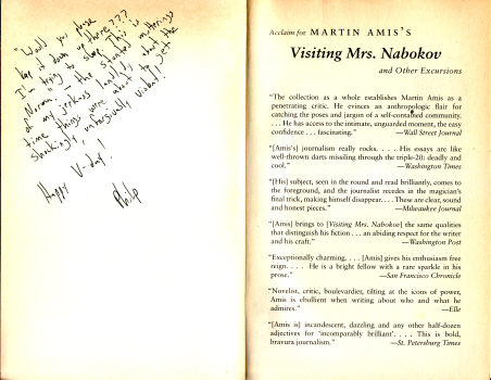Visiting Mrs. Nabokov by Martin Amis