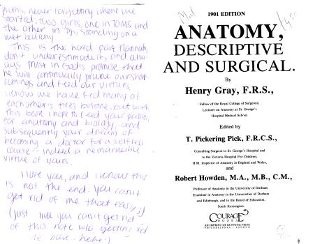 Gray's Anatomy by Henry Gray, F.R.S. 1