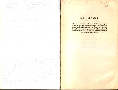 Mr Palomar by Italo Calvino 5