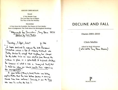 Decline & Fall - Diaries 2005 - 2010 by Chris Mullin 4