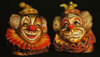 Photo of Clown Head Bookends