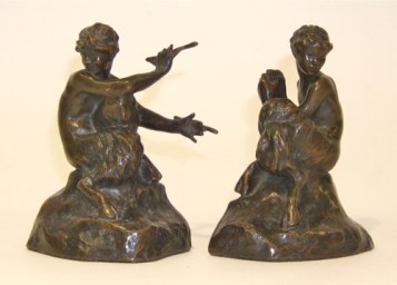 Photo of Fauns bookends